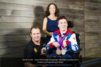 Image for Swansea University�s triple Paralympic medallist celebrates his achievements with his back room team